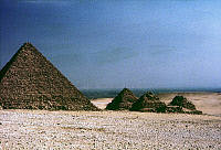 0025650 © Granger - Historical Picture ArchivePYRAMID OF MYKERINOS   Pyramid of Mykerinos with Children's Pyramids in foreground.