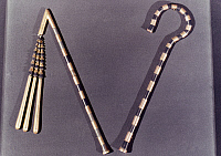 0026796 © Granger - Historical Picture ArchiveTOMB OF KING TUTANKHAMEN.   Bronze and gold crook and flail. c1342 B.C.