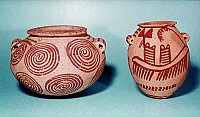 0028483 © Granger - Historical Picture ArchiveEGYPT: TWO GERZEAN POTS.   From El-Amra, Egypt, c3400 B.C.