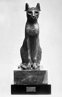 0039964 © Granger - Historical Picture ArchiveEGYPT: GODDESS BASTET.   The Gayer-Anderson cat, representing the Egyptian goddess Bastet. Bronze, after 30 B.C.