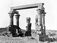 0164239 © Granger - Historical Picture ArchiveEGYPT: TEMPLE RUINS, c1865.   Ancient Egyptian temple ruins. Photograph by Francis Frith, c1865.