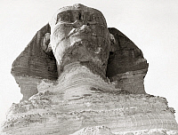 0260367 © Granger - Historical Picture ArchiveEGYPT: GREAT SPHINX.   Close-up of the face of the Great Sphinx at Giza, mid-20th century.