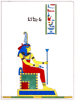 0528668 © Granger - Historical Picture ArchiveEGYPT: MAAT, 1823.   The ancient Egyptian goddess Maat. Illustration by Léon-Jean-Joseph Dubois, published in 'Pantheon Egyptien' by Jean-François Champollion, 1823.