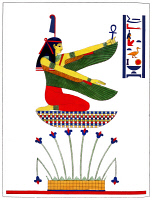 0528674 © Granger - Historical Picture ArchiveEGYPT: MAAT, 1823.   The ancient Egyptian goddess Maat. Illustration by Léon-Jean-Joseph Dubois, published in 'Pantheon Egyptien' by Jean-François Champollion, 1823.