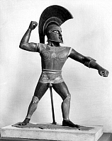 0072586 © Granger - Historical Picture ArchiveETRUSCAN WARRIOR STATUE.   Statue of an Etruscan warrior, early 20th century, at first believed to be an authentic work from the Etruscan period but exposed as a forgery in 1961.