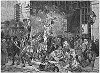 0018484 © Granger - Historical Picture ArchiveFRENCH REVOLUTION, 1789.   The Storming of the Bastille, 14 July 1789. Wood engraving, 19th century, after the painting by Francois Flameng.