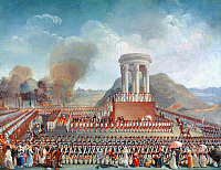 0020890 © Granger - Historical Picture ArchiveFRENCH REVOLUTION: 1790.   The Fete de la Federation at Besançon, 14 July 1790. Contemporary watercolor by J.A. Cornu.