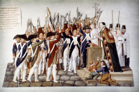 0020898 © Granger - Historical Picture ArchiveFRENCH REVOLUTION, 1791.   French National Guard swear to uphold new constitution, September 1791. Painting by Pierre-Etienne Le Sueur.