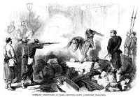 0035865 © Granger - Historical Picture ArchivePARIS COMMUNE, 1871.   'Summary executions in Paris. Shooting down communist prisoners.' Wood engraving from a contemporary American newspaper.