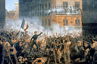 0040646 © Granger - Historical Picture ArchiveFRENCH REVOLUTION, 1830.   Parisians rebelling on July 1830. Contemporary French canvas.