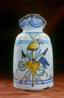 0048842 © Granger - Historical Picture ArchiveFRENCH REVOLUTION: PITCHER.   Faience pitcher with heart, fasces and cap of freedom.