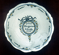0048844 © Granger - Historical Picture ArchiveFRENCH REV: PLATTER, 1793.   Faience platter, 1793, with the inscription: Patriot and proud of it.