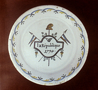 0048845 © Granger - Historical Picture ArchiveFRENCH REV: PLATE, 1794.   Faience plate, 1794.