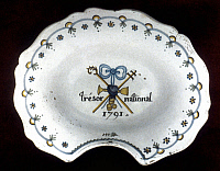 0053459 © Granger - Historical Picture ArchiveFRENCH REV: BOWL, 1791.   Faience shaving bowl, 'National Treasure', 1791.