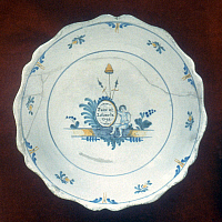 0053460 © Granger - Historical Picture ArchiveFRENCH REVOLUTION, 1793.   Faience plate, 'Peace and Liberty,' 1793.