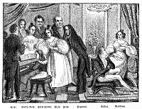 0070591 © Granger - Historical Picture ArchivePARISIAN SALON.   A Parisian salon of the 1830s with Heinrich Heine, Johann Peter Pixis, François Joseph Fetis, Nicolo Paganini, Vincenzo Bellini, and Maria Malibran. Contemporary lithograph.