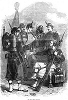 0082124 © Granger - Historical Picture ArchiveFRENCH INFANTRY, 1870.   French infantry of the Franco-Prussian War. Wood engraving from an English newspaper of 1870.