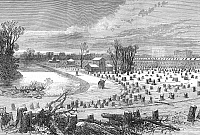 0082135 © Granger - Historical Picture ArchiveSIEGE OF PARIS, 1871.   The Bois de Boulogne at Paris denuded of trees cut for charcoal during the Franco-Prussian War. Wood engraving from an English newspaper of 1871.