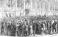0082144 © Granger - Historical Picture ArchiveFRENCH REPUBLIC, 1870.   The establishment of the French Republic, 4 September 1870, during the Franco-Prussian War. Wood engraving, French, 19th century.