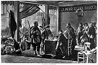 0099572 © Granger - Historical Picture ArchivePARIS: VOLUNTEERS, 1870.   The enrollment of volunteers for the French Army during the Franco-Prussian War, 1870. Lithograph, 19th century, by Alfred Paul de Richemont.