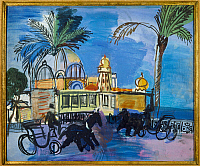 0103953 © Granger - Historical Picture ArchiveDUFY: CASINO, 1927.   'The Casino of the Jetty-promenade with Two Carriages.' Oil on canvas, 1927, by Raoul Dufy. EDITORIAL USE ONLY.