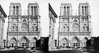 0117356 © Granger - Historical Picture ArchivePARIS: NOTRE DAME, c1860.   Notre Dame Cathedral in Paris, France; photographed c1860, during the restoration conducted by Eugène Viollet-le-Duc and Jean Lassus.
