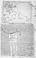 0117880 © Granger - Historical Picture ArchiveFRENCH INVASION, 1798.   Plan of a French invasion of England and Ireland. Extract of a letter, dated London, 16 April 1798, and a map of the supposed planned invasion, printed in a contemporary broadside published in Philadelphia.
