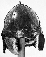 0119868 © Granger - Historical Picture ArchiveFRANKISH HELMET, c600 A.D.   Bronze helmet found in a Frankish grave, c600 A.D.