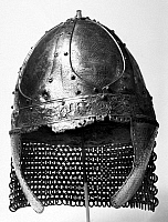 0119870 © Granger - Historical Picture ArchiveFRANKISH HELMET, c600 A.D.   Bronze helmet found in a Frankish grave, c600 A.D.