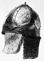 0119872 © Granger - Historical Picture ArchiveFRANKISH HELMET, c600 A.D.   Bronze helmet found in a Frankish grave, c600 A.D.