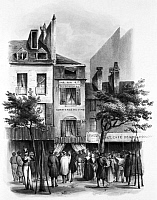 0323114 © Granger - Historical Picture ArchivePARIS: FIESCHI HOUSE.   Home of Giuseppe Marco Fieschi, attempted assassin of Louis Philippe I on 28 July 1835. Engraving.