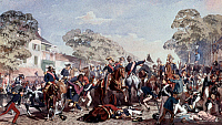 0323116 © Granger - Historical Picture ArchiveASSASSINATION ATTEMPT, 1835.   Assassination attempt by Giuseppe Marco Fieschi on King Louis Philippe I on 28 July 1835. Painting. Full credit: Tallandier - Rue des Archives / Granger, NYC -- All Rights Reserved.