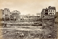 0528607 © Granger - Historical Picture ArchivePARIS, 1871.   A view of fortifications at Porte Maillot in Paris, France, following the Paris Commune of 1871. Photograph by J.W. Wulff, 1871.