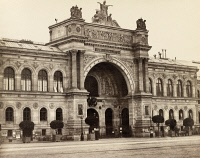 0633990 © Granger - Historical Picture ArchivePARIS: PALACE OF INDUSTRY.   View of the facade of the Palace of Industry, exhibition hall constructed for the Paris World Fair of 1855. Photograph by Edouard Baldus, c1860.