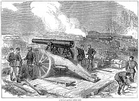 0003218 © Granger - Historical Picture ArchiveSIEGE OF PARIS, 1871.   A Prussian battery outside Paris during the Franco-Prussian War. Wood engraving from an English newspaper of 1870.