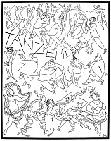 0017918 © Granger - Historical Picture ArchiveGERMANY: DANCE EPIDEMIC.   Pen-and-ink drawing, 1920, by Karl Arnold.