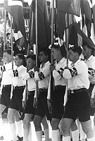 0036114 © Granger - Historical Picture ArchiveWORLD WAR II: HITLER YOUTH.   Hitler youth on parade in Germany in the 1930s.