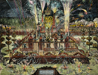 0029370 © Granger - Historical Picture ArchiveWILLIAM III & MARY, 1689.   Fireworks in London marking the coronation of William III and Mary II of England. Dutch engraving, 1689.