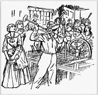 0037764 © Granger - Historical Picture ArchiveLUDDITES, 1811.   English workers and Luddites smashing a spinning jenny in a factory during the riots of 1811-1816. Illustration, c1935.