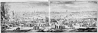 0116291 © Granger - Historical Picture ArchiveLONDON: FROST FAIR, 1684.   View from the middle of the frozen Thames River of the Frost Fair held on the river during the severe winter of 1683-84. London is on the left and Southwark on the right. Indian ink over a black chalk sketch by Jan Wyck, dated 4 February 1684.