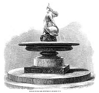 0265048 © Granger - Historical Picture ArchiveHYDE PARK: FOUNTAIN, 1863.   A fountain sculpted by Alexander Munro, in Hyde Park, London. Engraving, English 1863.
