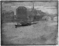 0622176 © Granger - Historical Picture ArchivePENNELL: THAMES, 1903.   'Mist on the Thames.' Etching by Joseph Pennell, 1903.