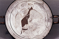 0019177 © Granger - Historical Picture ArchiveAPHRODITE ON A GOOSE.   Attic red-figured vase. c460 B.C. RESTRICTED OUTSIDE US.