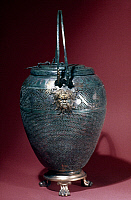 0036911 © Granger - Historical Picture ArchiveGREEK LANTERN.   With head of Pan, bronze, c325-350 B.C.