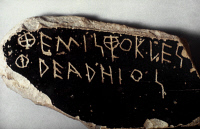 0049524 © Granger - Historical Picture ArchiveGREECE: OSTRACON.   A potsherd used as ballot in ancient Athenian practice of ostracism.