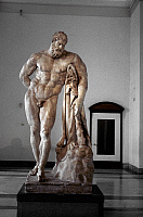 0054739 © Granger - Historical Picture ArchiveTHE FARNESE HERCULES.   Antique Roman marble statue after the Greek bronze original by Lysippus.