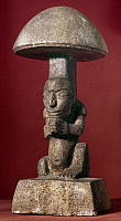 0167707 © Granger - Historical Picture ArchiveGUATEMALA: STONE FIGURE.   Stone sculpture of a mushroom in the shape of a man, from San Jose Pinula, Guatemala, 300-100 B.C. Height: 13 inches.