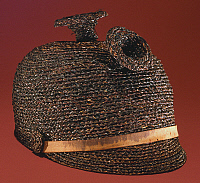 0105767 © Granger - Historical Picture ArchiveHAWAII: FERNSTEM HAT.   Riding hat made of fernstem, 19th century.