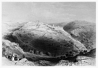 0123013 © Granger - Historical Picture ArchiveJERUSALEM: MOUNT ZION.   Line engraving from W.H. Bartlett's 'Walks About the City and Environs of Jerusalem,' c1843.