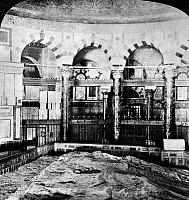 0123020 © Granger - Historical Picture ArchiveDOME OF THE ROCK.   Interior of the Dome of the Rock in Jerusalem. Stereograph, late 19th or early 20th century.